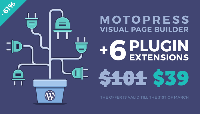 MotoPress Visual Builder + 6 plugin Extensions for $39 only