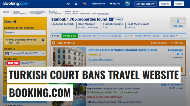 booking.com banned in turkey