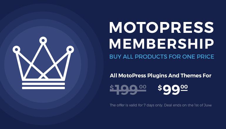 MotoPress Membership: WordPress Plugins and Themes for Low Price