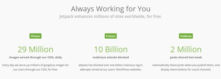 jetpack free wordpress plugin