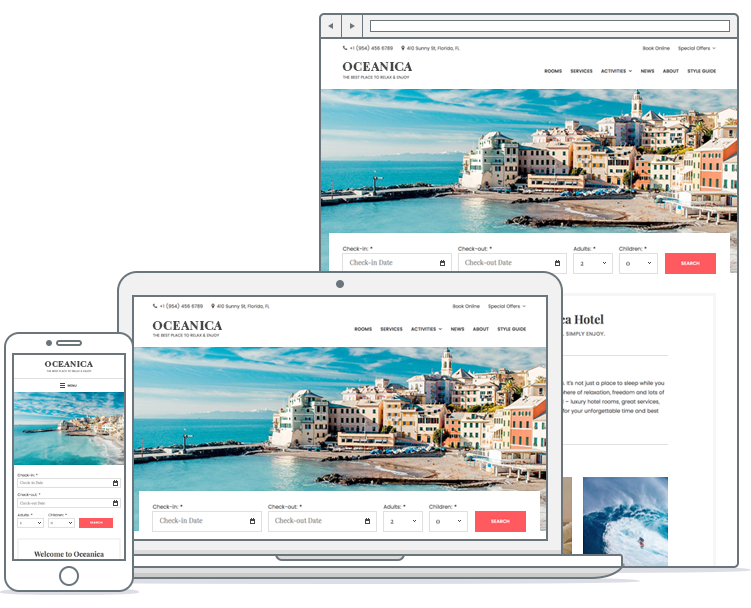 oceanica hotel booking wordpress theme
