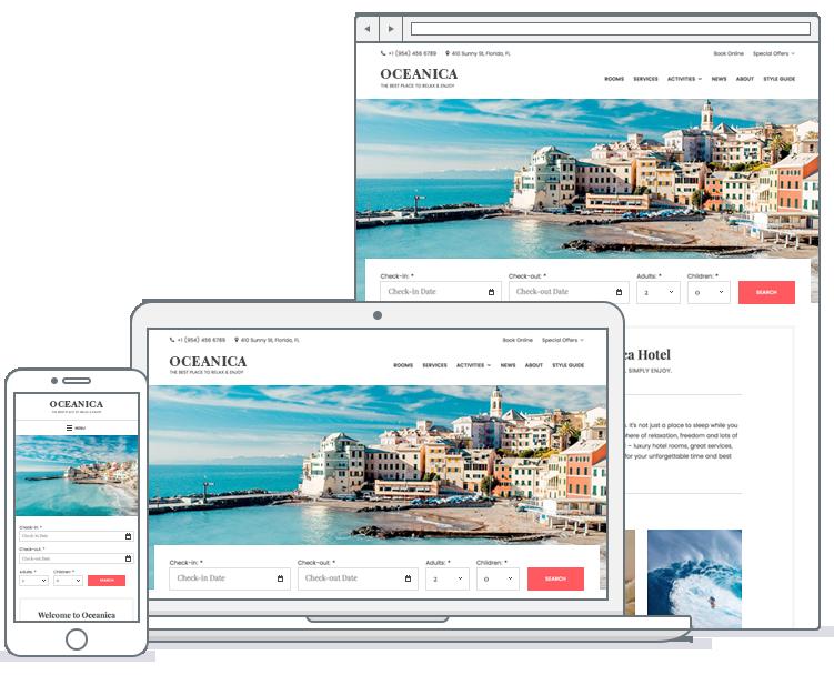 oceanica hotel booking wordpress theme