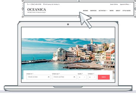 customizable menu wordpress theme