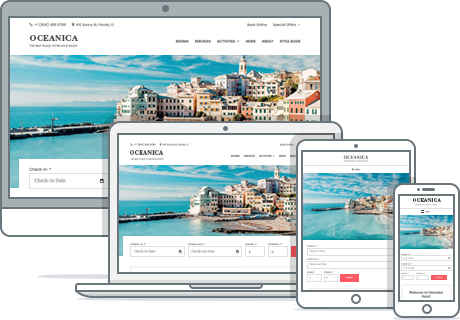 responsive hotel booking wordpress theme