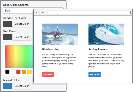 unlimited colors wordpress theme