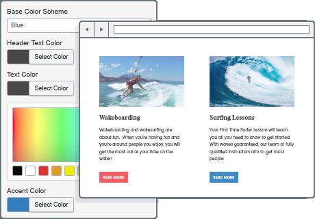 unlimited colors wordpress theme