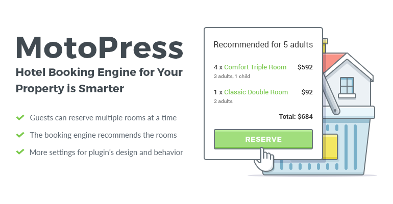 wordpress hotel booking by motopress