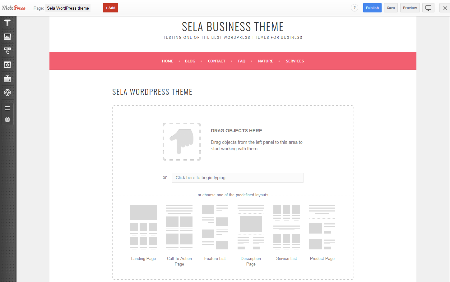 sela business wordpress theme