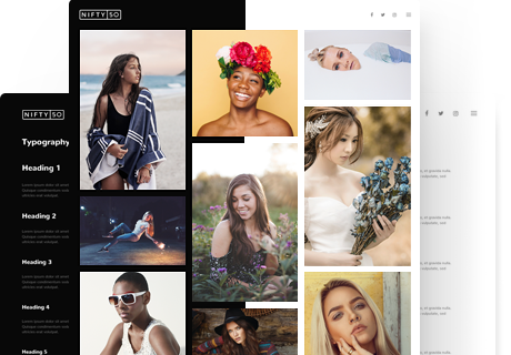 dark and light skins photography wordpress theme