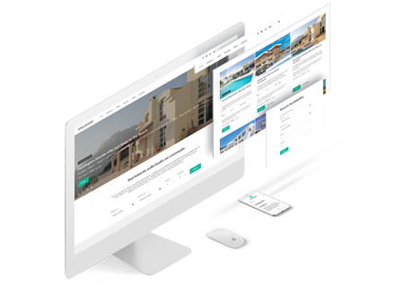 responsive design of a property rental theme