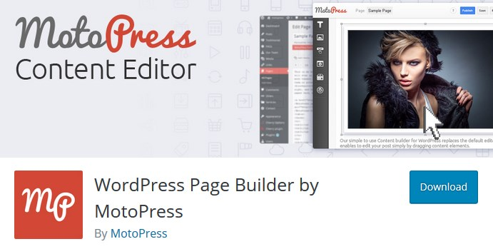 wordpress page builder by motopress