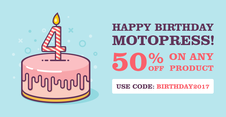MotoPress Birthday sale on WordPress Plugins, Themes, membership