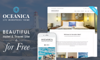 Download Oceanica Lite: Free WordPress Hotel and Travel Theme