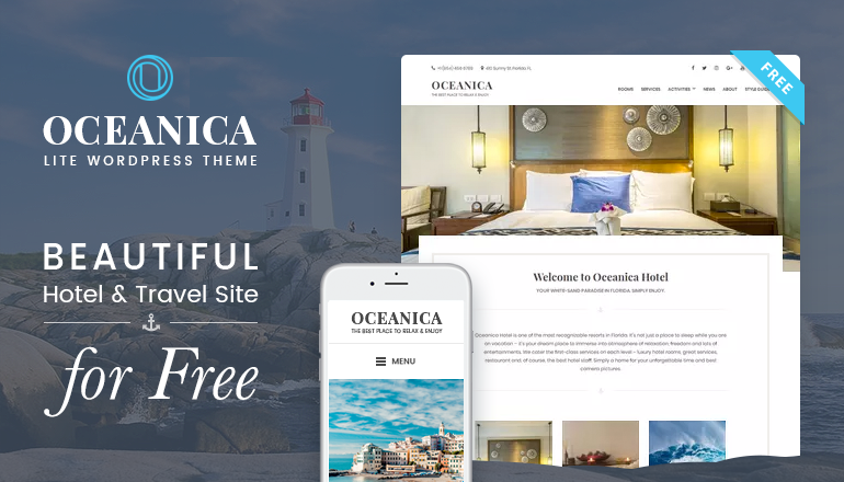 free wordpress theme for hotels and travel blogs