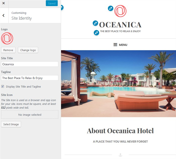 oceanica lite free wordpress theme for travel blogs