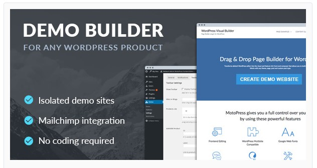 wordpress demo builder by motopress