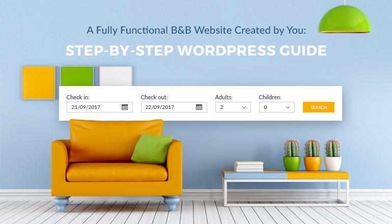 bed and breakfast wordpress website