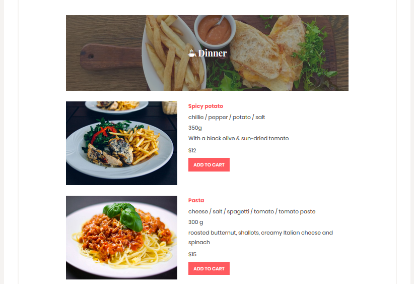 wordpress restaurant menu plugin