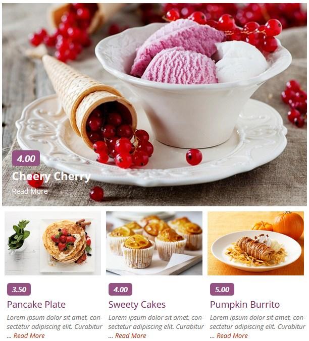 restaurant menu for wordpress