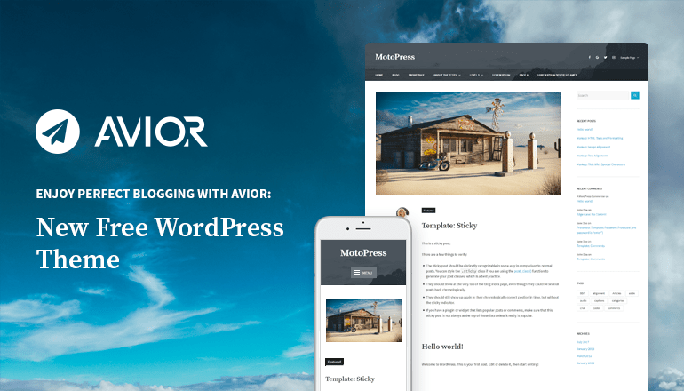 free wordpress blog theme