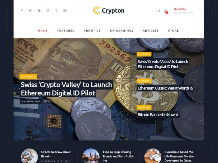wordpress bitcoin theme