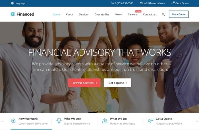 wordpress financial theme