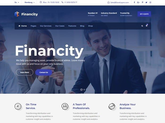 wordpress financity theme