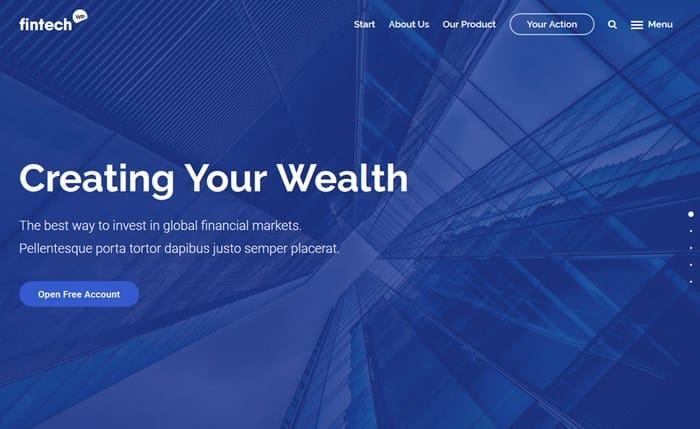 wordpress financial themes