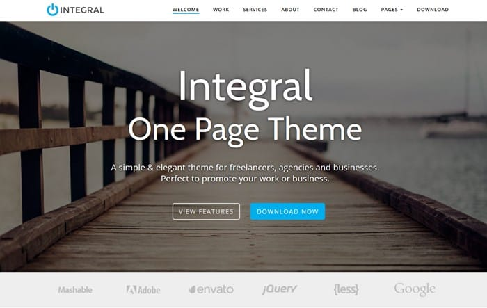 integral lite wp theme