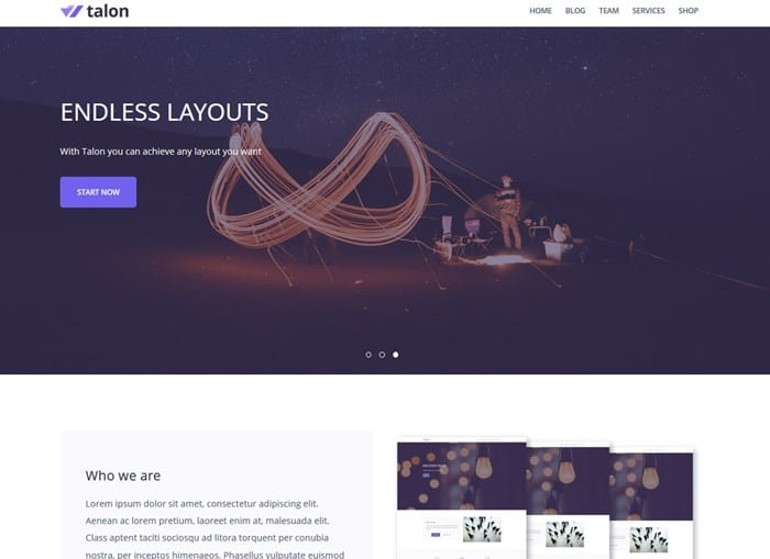 talon wp theme