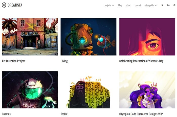 creative wordpress portfolio theme