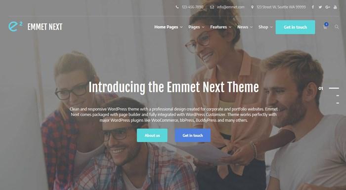 emmet next business theme