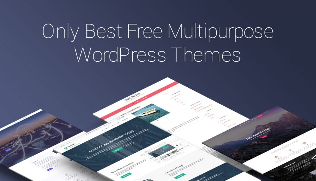Best Multi-purpose themes for your WordPress website