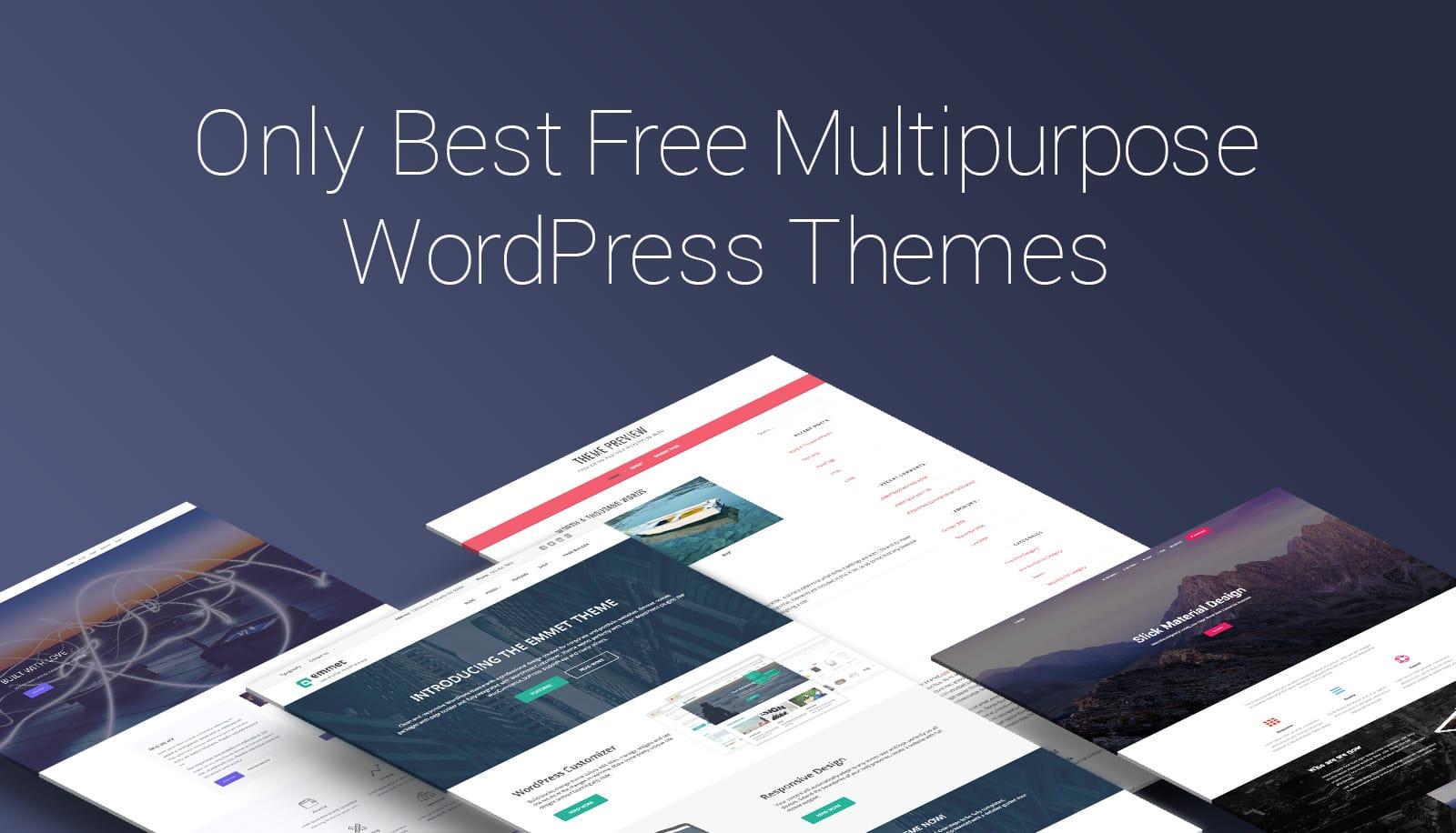 20+ Best Free Multipurpose WordPress Themes 2018 - MotoPress