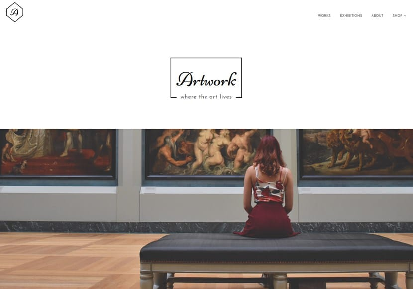wordpress art theme artwork