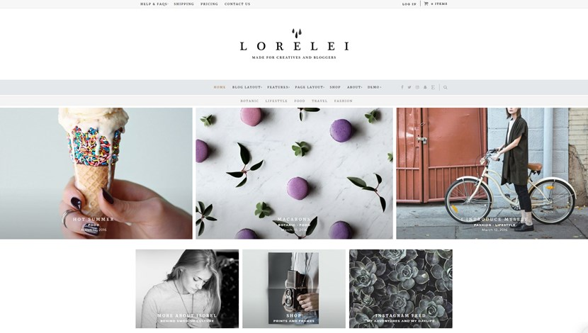 lorelei wordpress theme