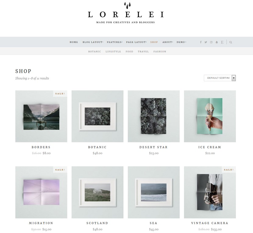 lorelei wordppress theme