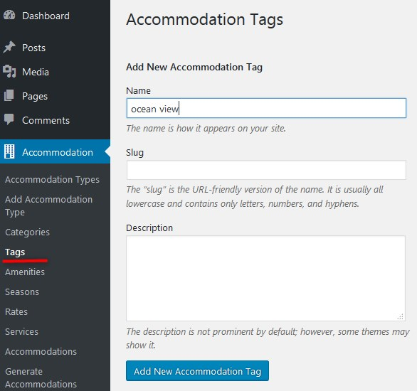 tags wp hotel booking plugin