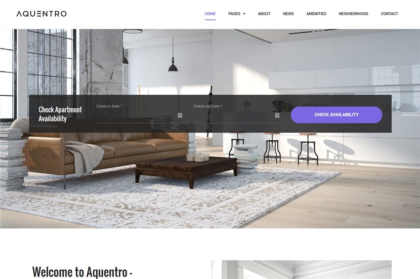 AQUENTRO – Single Property WordPress Theme(1)