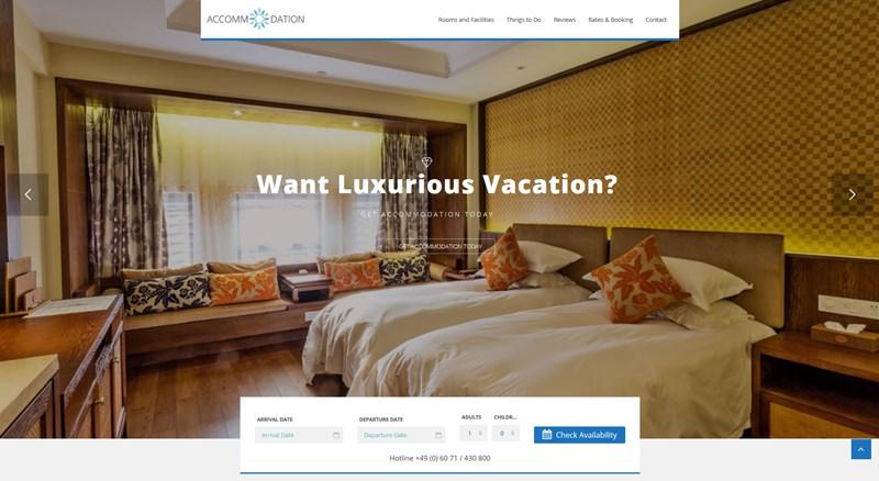 Accommodation resort wp theme