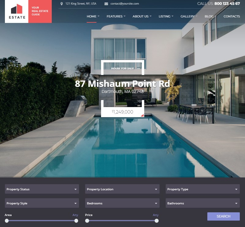 Estate-WordPress-property-rental-website-template