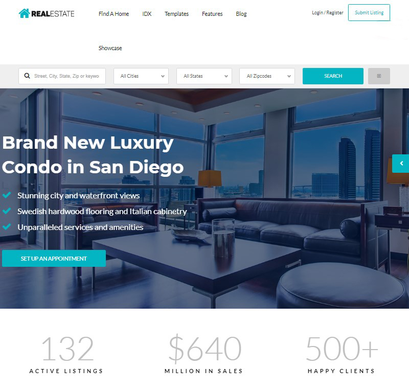 Real Estate 7 WordPress property listing theme