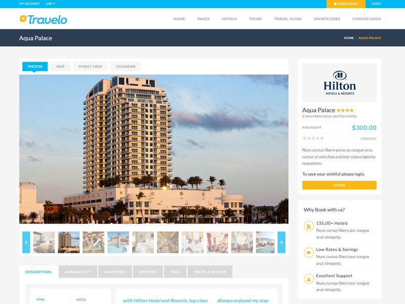 travelo wp theme