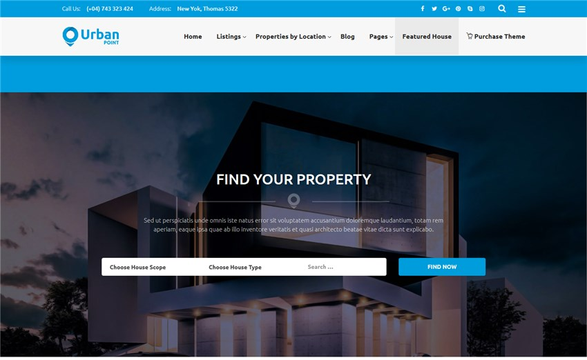 UrbanPoint – House Selling Rental WordPress Theme