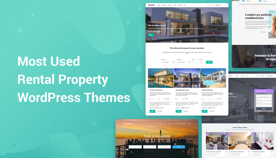 best wordpress property rental themes