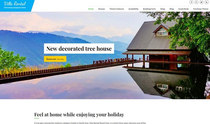 villa vacation rental theme