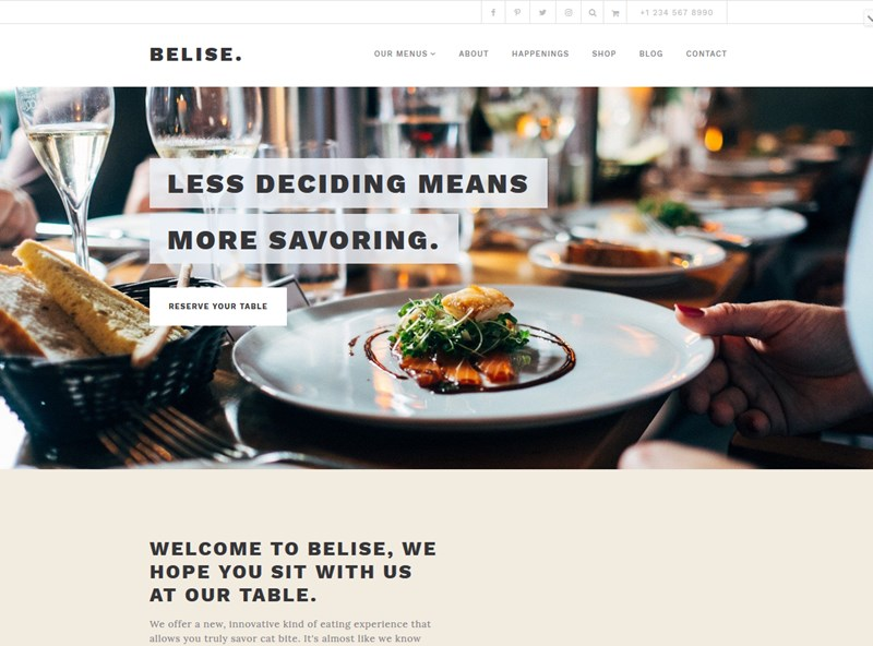 belise wordpress theme