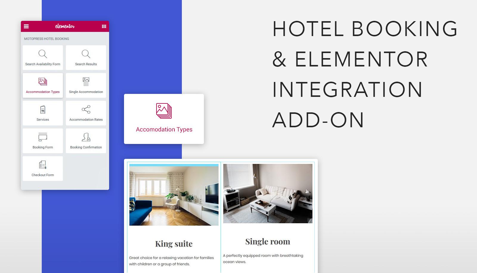 MotoPress Hotel Booking & Elementor Integration: Meet New Add-on