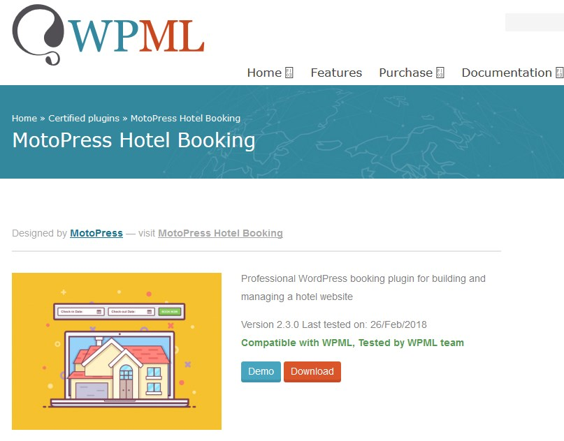 wpml motopress hotel booking