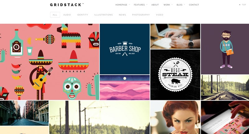 Gridstack wp theme